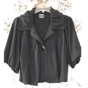Cropped Bubble Sleeve/Hem Jacket.🌼
